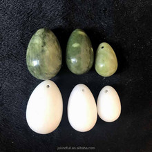 Hot sale natural blue and white jade egg yoni egg nephrite egg wholesale