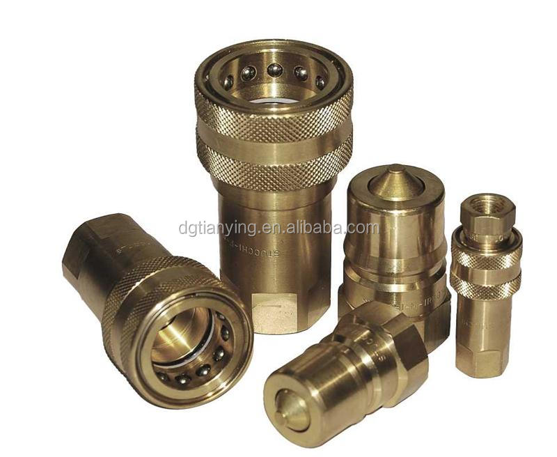 Brass hose fitting set with precision nipple and coupling
