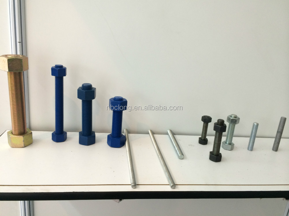 B7 Stud Bolt Thread Rod with GR 2H Hex Nuts