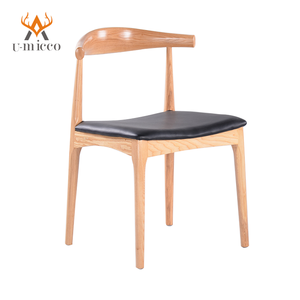 Indoor modern solid wood wooden armrest dining chair