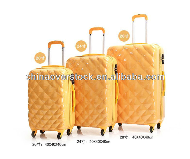 ABS PC Travel Suitcase 3PCS Trolley Luggage Bag with TSA