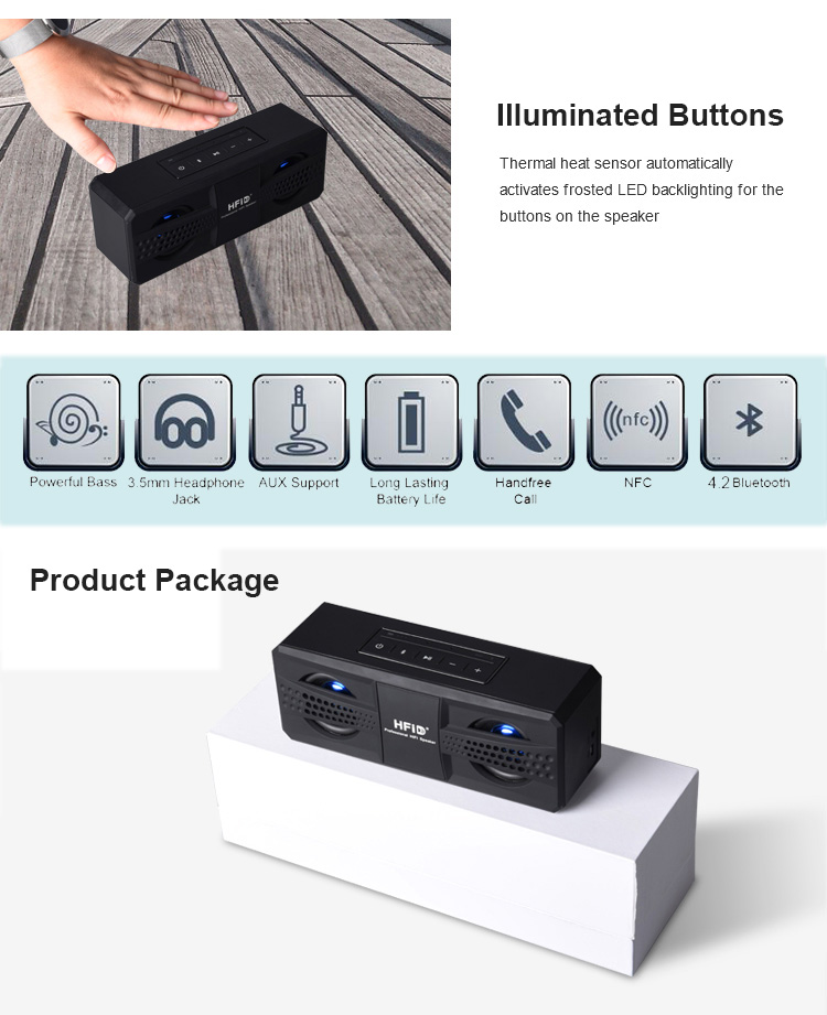 high quality stereo sound 20w 4400mAh mobile phone loud active bluetooth speaker