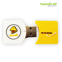 Made your own design 16g flash drive , Rectangle shape PVC USB disk