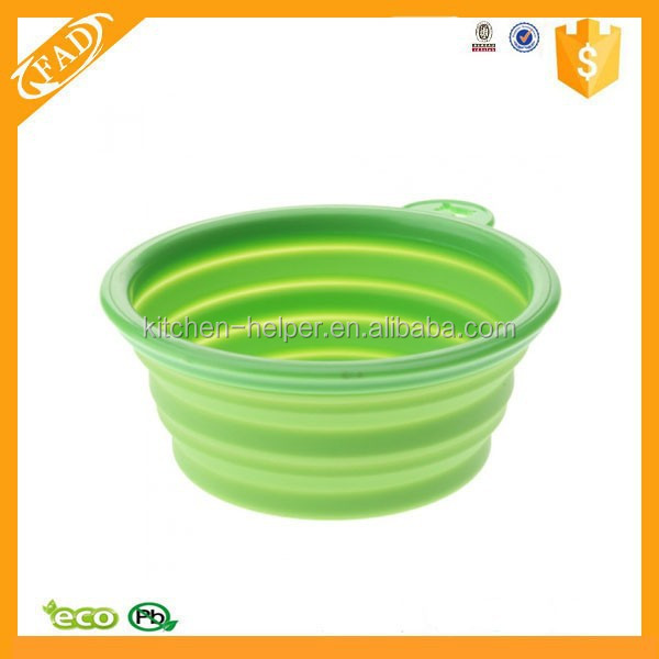 Top Supplier FDA Grade Colorful Portable Pet Item Silicone Dog Travel Drinking Bowl