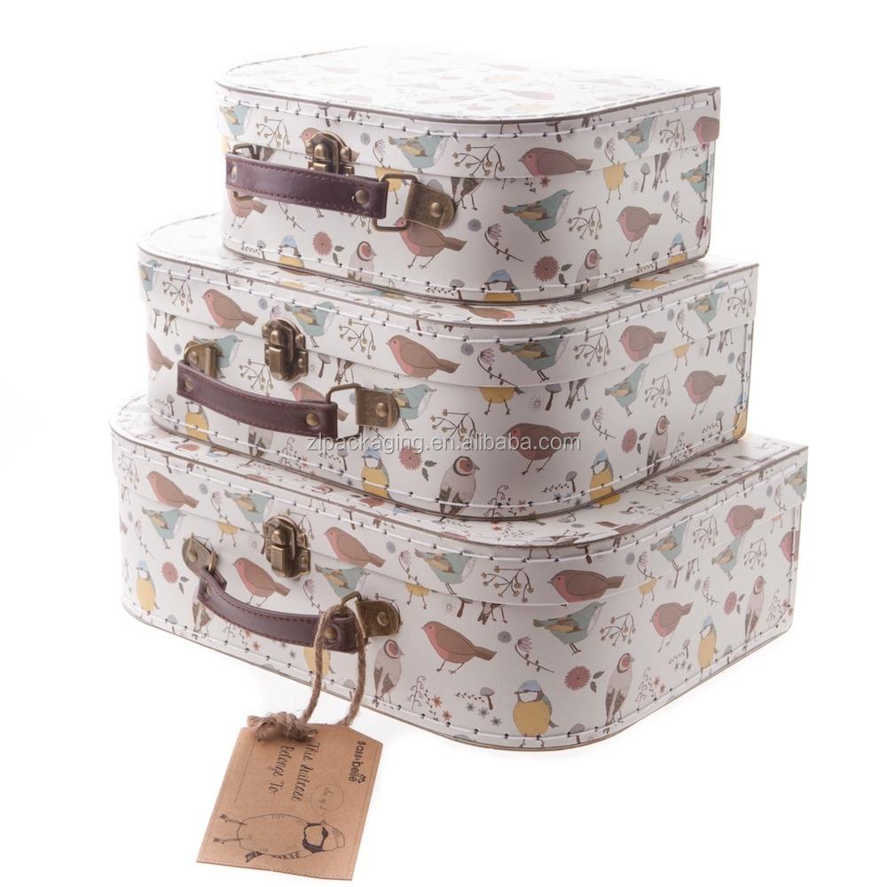 Vintage Suitcase Cardboard Suitcase Boxes - Buy Kids Cardboard ...