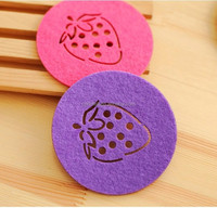felt cup coaster for home decoration