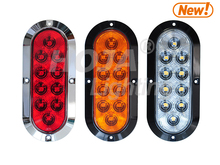 "6"" Oval LED Light Surface Mount, STOP/TAIL/TURN 12 volt lights"