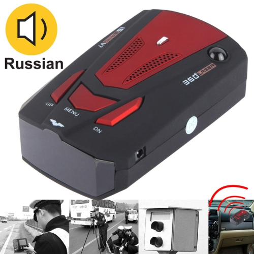 High Performance 360 Degrees Full-Band Scanning Car Speed Testing System / Detector Radar, Built-in Russian Voice Broadcast