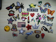 Wholesale customized embroidery patches with iron on backing