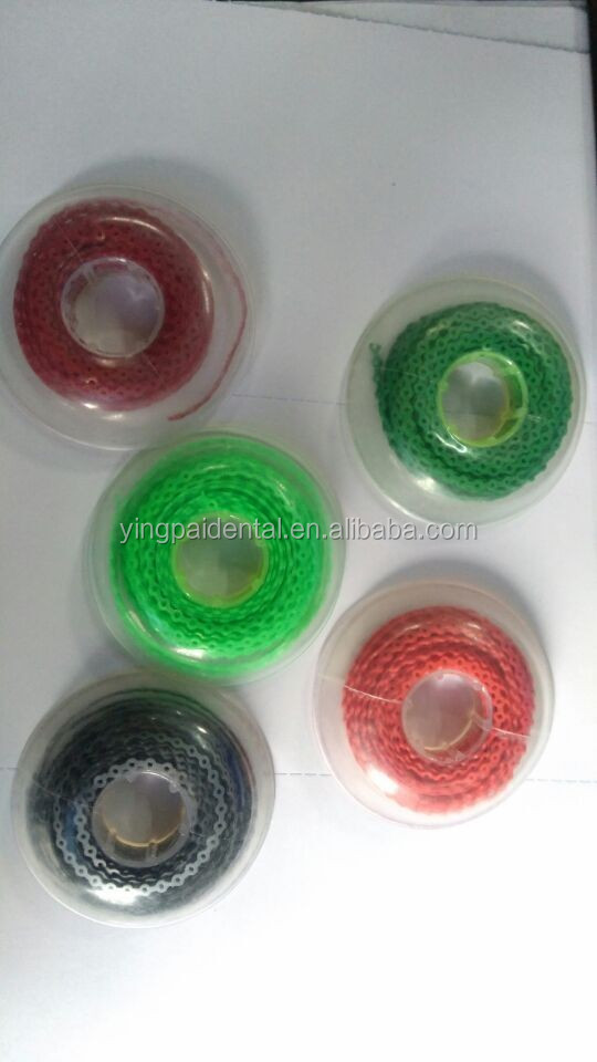 Dental orthodontic material elastic power chain