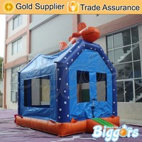 Mini PVC Inflatable Bouncy Castle with Fish for Kids