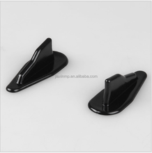 Universal EVO-Style ABS Wing Kit Vortex Generator Roof Shark Fins Spoiler with black and carbon fiber color