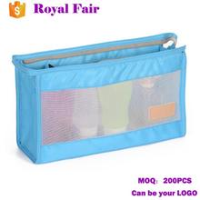Travelling Portable Nylon Mesh Folding Cosmetic Wash Bag