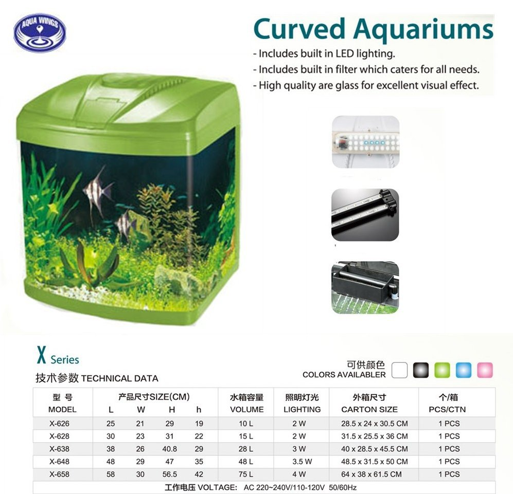 Curved Aquariums mini fish tank