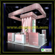 MDF cosmetics display showcase with LED lights