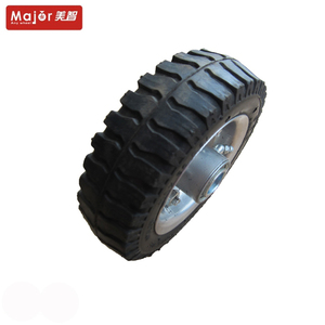 6 inch wagon cart use small solid wheel rubber tyre 6x2 for toy