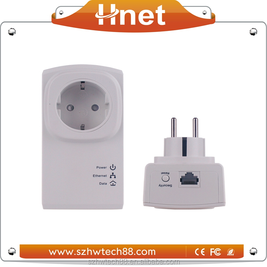 The better price 500Mbps Passthrough type powerline adapter with Atheros AR7420 for Private home network