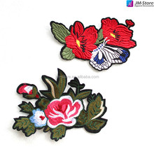 Custom Iron On Flower Designs Embroidery Patches For Decoration Clothes