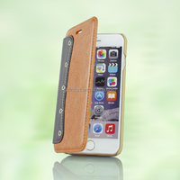 4.7 inch PU leather Brown high quality flip phone case