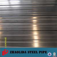 mild steel pipes ! pre galvanized hollow section square iron galvanized square tube 75x75