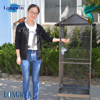 new design large decorative wire/iron meterial bird cage parrot breeding cages