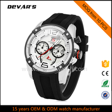 3atm waterproof japan movt quartz watch stainless steel silicone watch band vogue watch