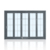 75# Aluminum Patio Folding Glass Door Folding Closet Door Folding Door