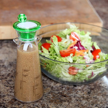 Personalized Plastic Salad Dressing Maker and Mixer Bottle