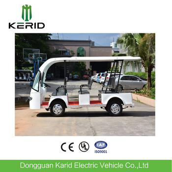 China Manufacturer Fiberglass Body 48VDC Motor Electric City Sightseeing Bus For Airport/Hotel Receiption