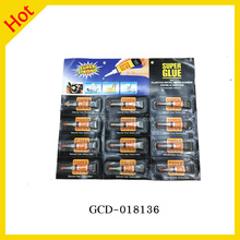 Factory Drect Sale Contact Adhesive 12pc/set Black Card Tube Package 502 Super Glue For All Use