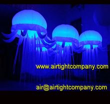 custom made inflatable decorating light balloons with lamps and remote control