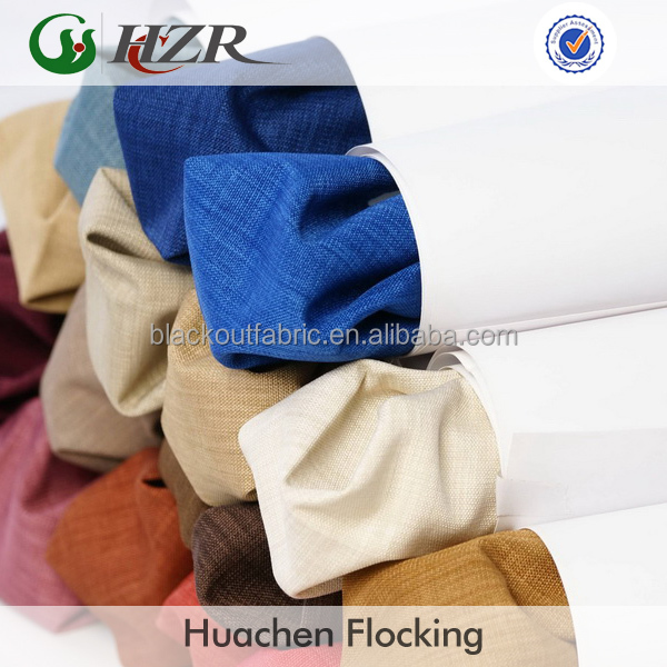 Fire retardant blackout curtain fabric din 4102 B1 class qualified