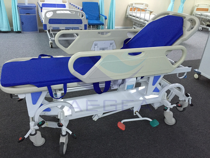 AG-HS021 With American pump super quality patient ambulance transport folding stretcher