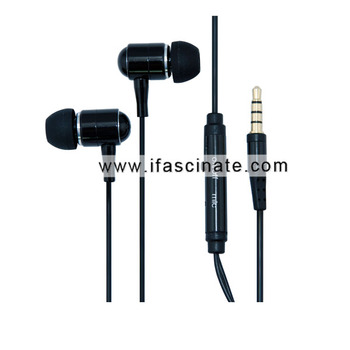 Plastic & Aluminum waterproof headphones with micphone pass IPX8