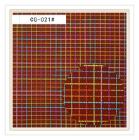 high quality coloured check fabric pattern mesh fabric for bag