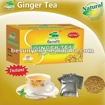 instant honey ginger tea bag with honey