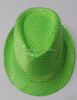 Factory supply colorful Sequin jazz hat/top hat/straw hat