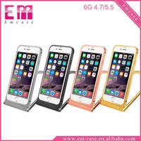 360 Degree Rotation Metal Case Bluetooth Camera Stand Holder Case For iPhone 6