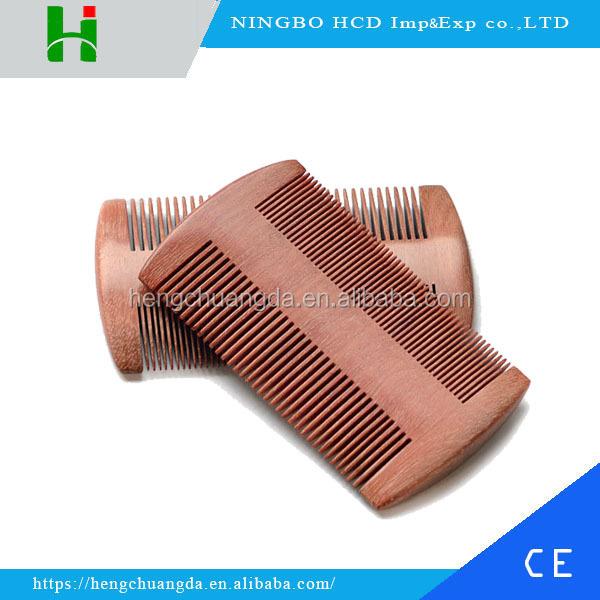 2018 Health care mustache& beard sandalwood comb wood hair lice comb