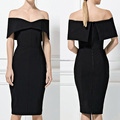 2017 summer women off shoulder sexy evening guangzhou bandage dress