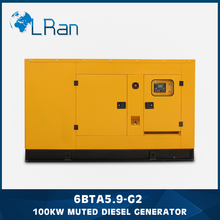 Soundproof 100kw petrol diesel generator price list with warranty and overseas service