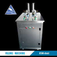 Dual Manual Bottle Filling Machine For Silicone Sealant Glue