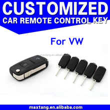 Auto Key Part For Vw Plastic Key Folding Remote Case For Vw Key Fob Shell 2 Button With Blade