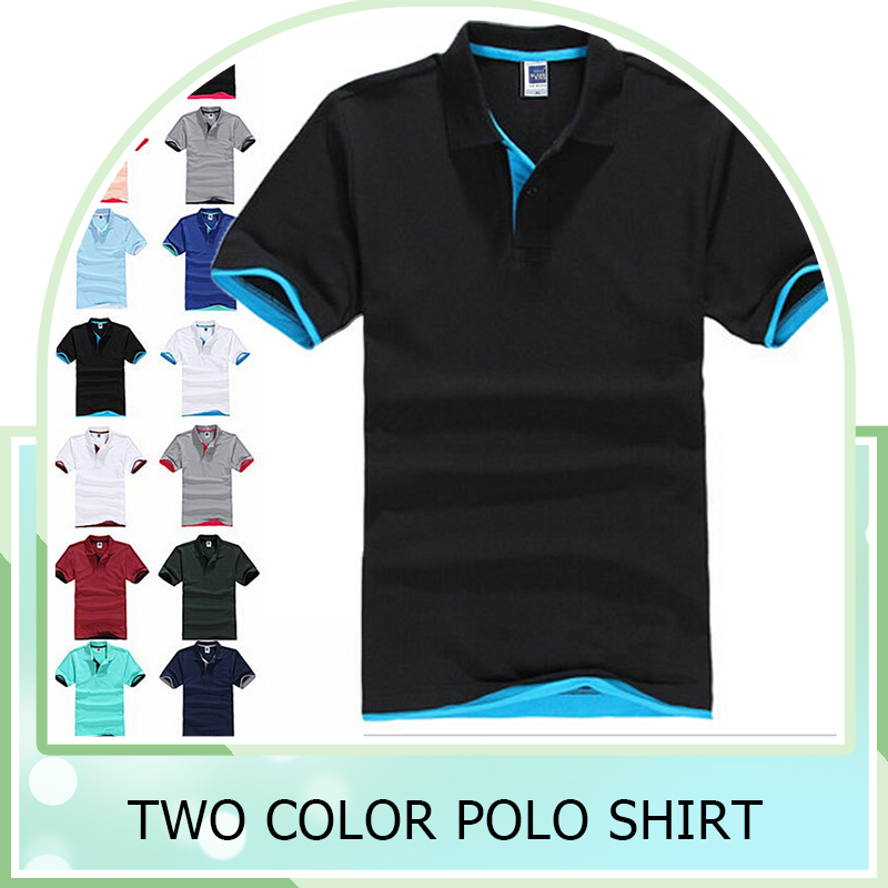 custom news design 100% cotton two color short sleeve polo shirt Bosco Sport Shirt couple slim shirts design for lovers