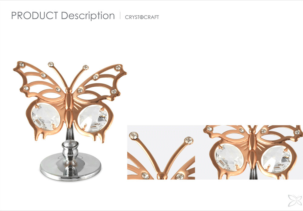 Special Designed Trendy Rose Gold Plated Metal Gifts For Wedding