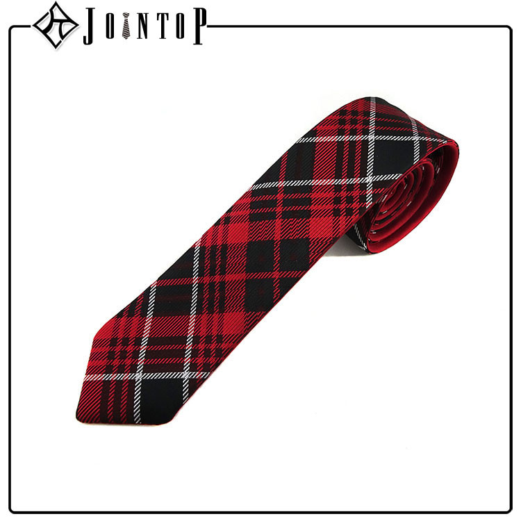 2016 best sell silk red white and black tie for man