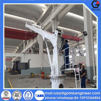 good quality low price small telescopic jib crane used for deck/ship/platform/barge/boat