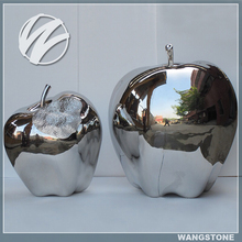 Modern stainless steel apple sculpture for sale