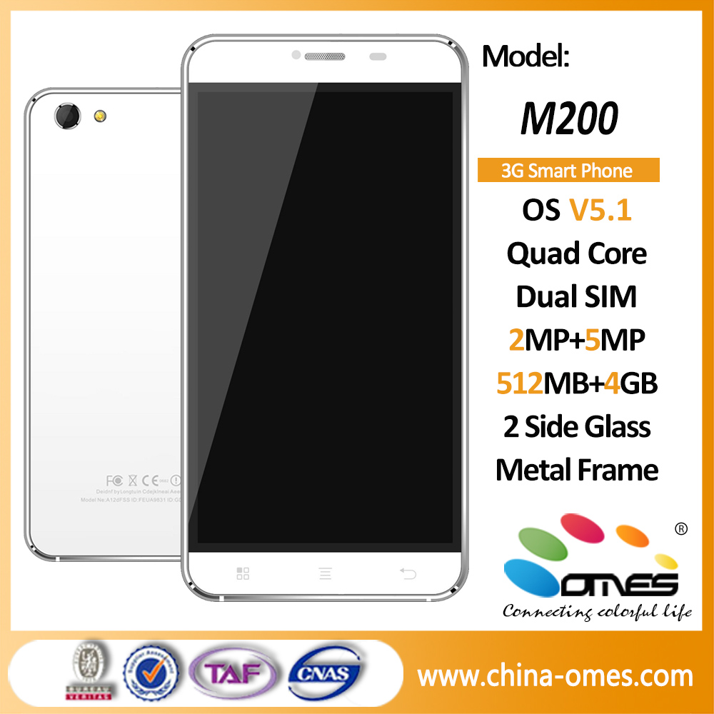 M200 5.5 inch Quad Core High quality Inbuilt Battery 3g android cell phone without camera