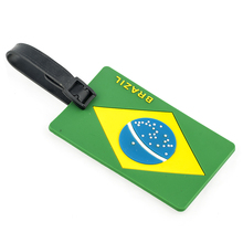 2016 novelty bag parts travel souvenir durable country flag pvc luggage tag